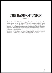 Basis of Union 1992 Cover
