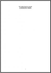 UCA Constitution